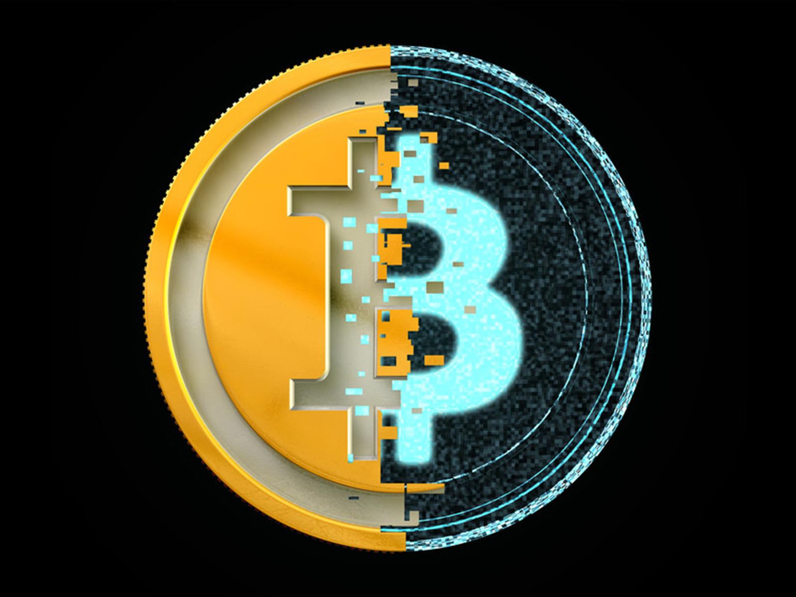 Bitcoin logo digitized